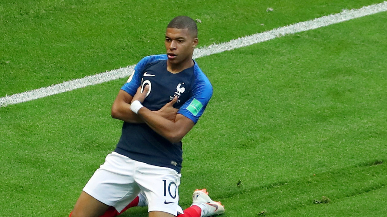 Mbappe, the pouting child | When scoring goals aginst his older brother Kylian while playing FIFA, Ethan Mbappe celebrates by dropping the remote and pouting with his hands folded under his armpits. Kylian Mbappe decided to bring that celebration to the grandest stage of the footballing world. (Image: Reuters)