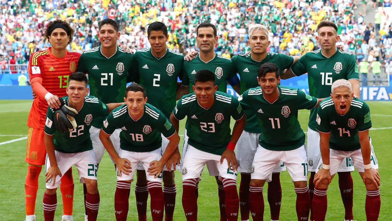 The Mexico starting XI. (Image: Reuters)