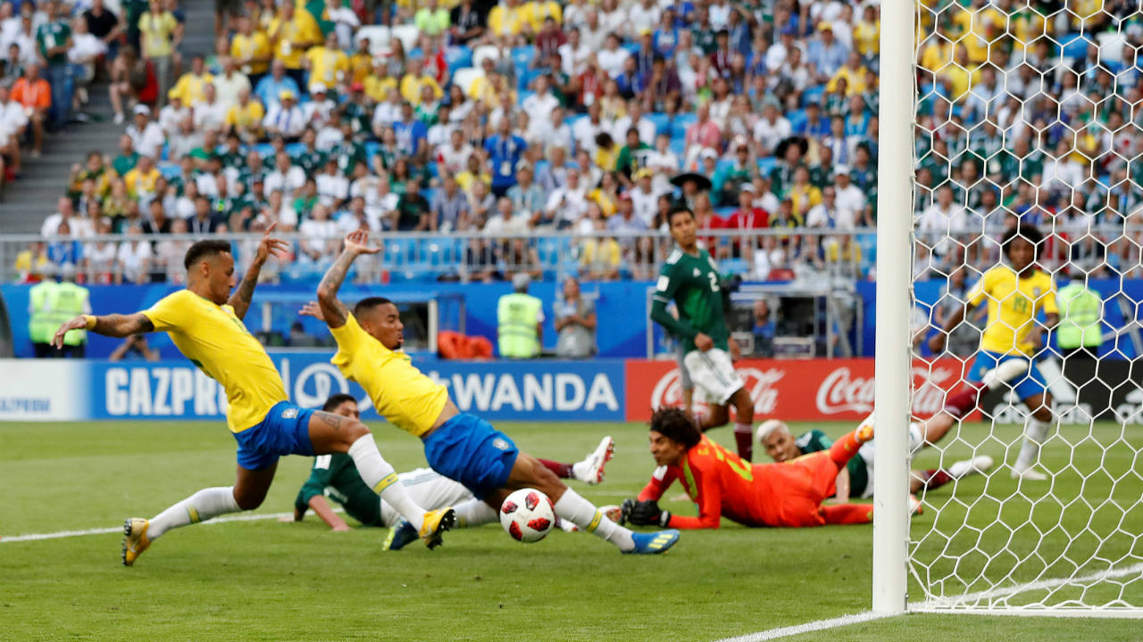 After a goalless first half, Brazil the second half in earnest. Neymar's influence was telling as he released Willian inside the box. He ran to the far post and scored from the winger's pass in the 51st minute. (Image: Reuters)