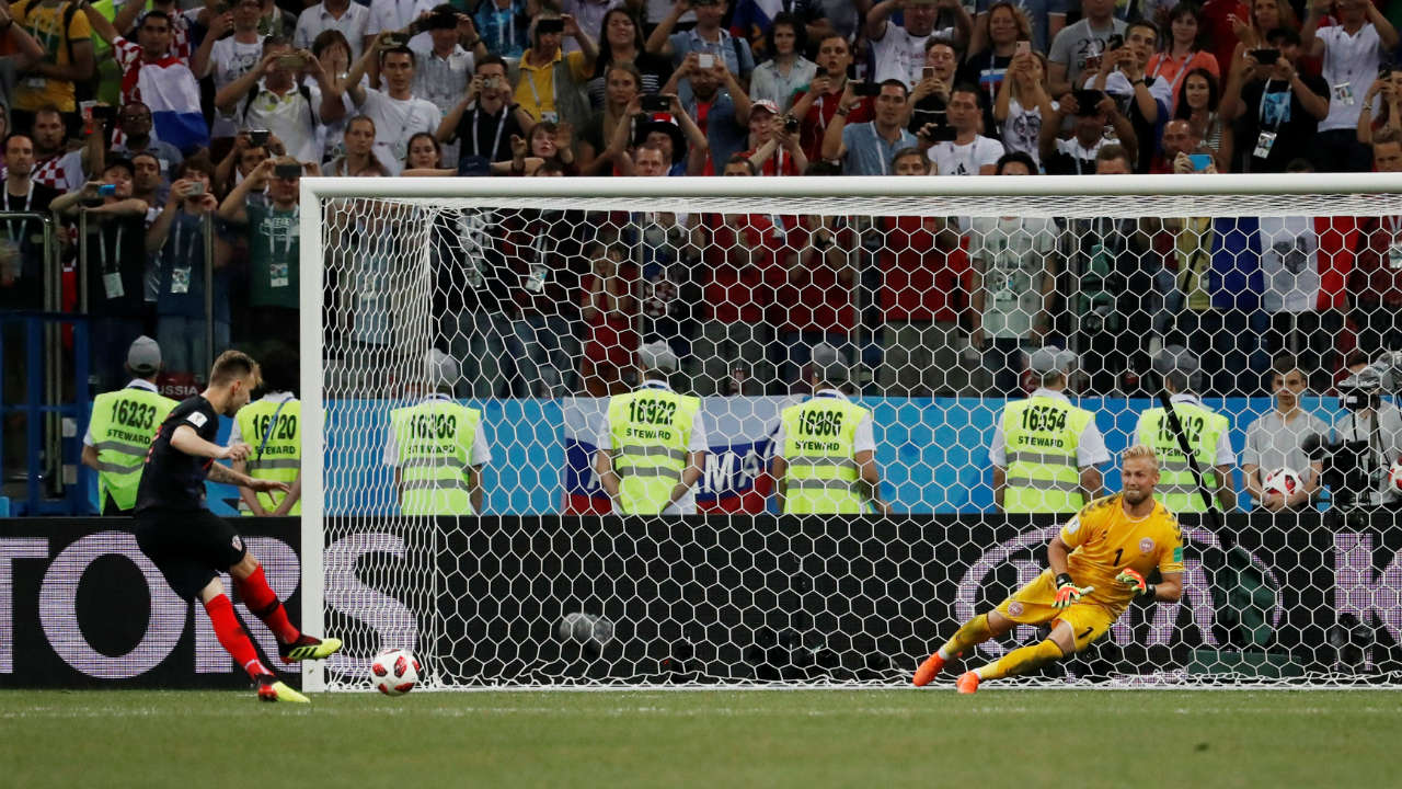 Luka Modric finally beat Schmeichel from the spot during the shoot-out. And Ivan Rakitic of Croatia fired the final penalty past the Danish keeper, and lead his side to a 3-2 win in the penalty shoot-out. (Image: Reuters)