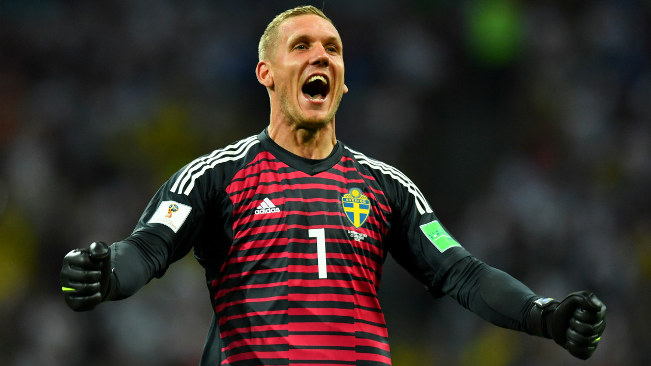 Robin Olsen | The Swedish goal-keeper has kept two clean sheets and made seven saves. This includes one catch two punches and four clearances. Alongside Granqvist's no nonsense defending, Olsen has been instrumental in Sweden's progress from the group stages to the knockout rounds. A 77.8% success rate in goal has been enough so far. (Image: Reuters)