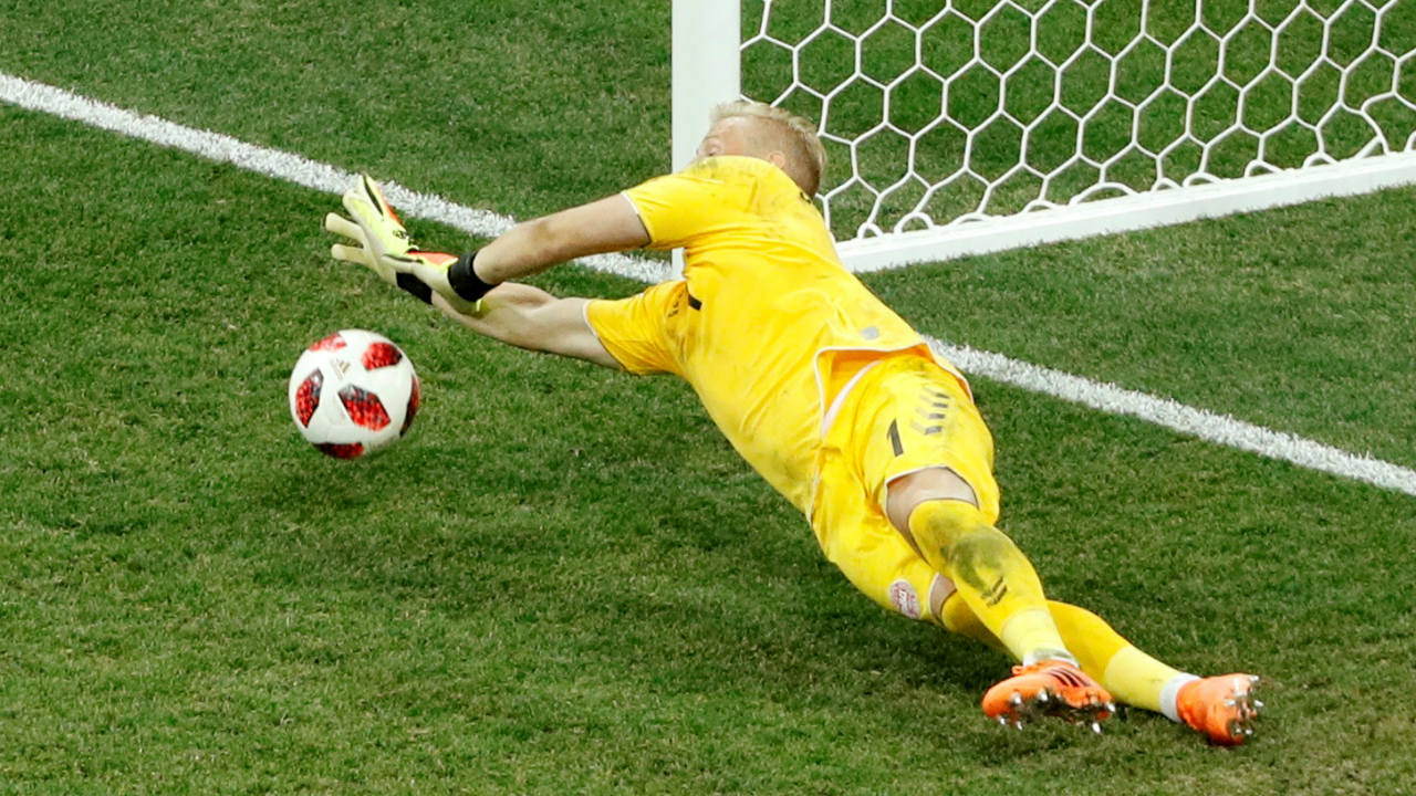 Both keepers performed admirably during the penalty shoot-out. Schmeichel saved two penalties - those of Pivaric and Bidalj. (Image: Reuters)