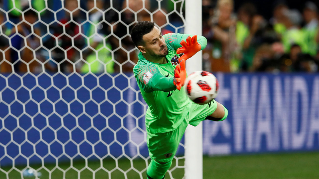 Subasic, however, outperformed his Danish counterpart, by saving three penalties. He stopped the efforts of Eriksen, Schone and N Jorgensen. (Image: Reuters)