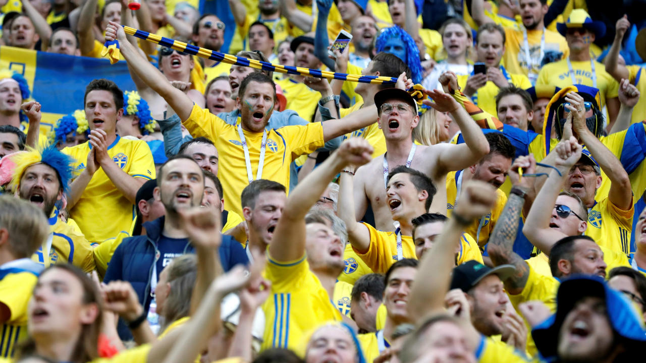 Sweden fans in the stadium. (Image: Reuters)