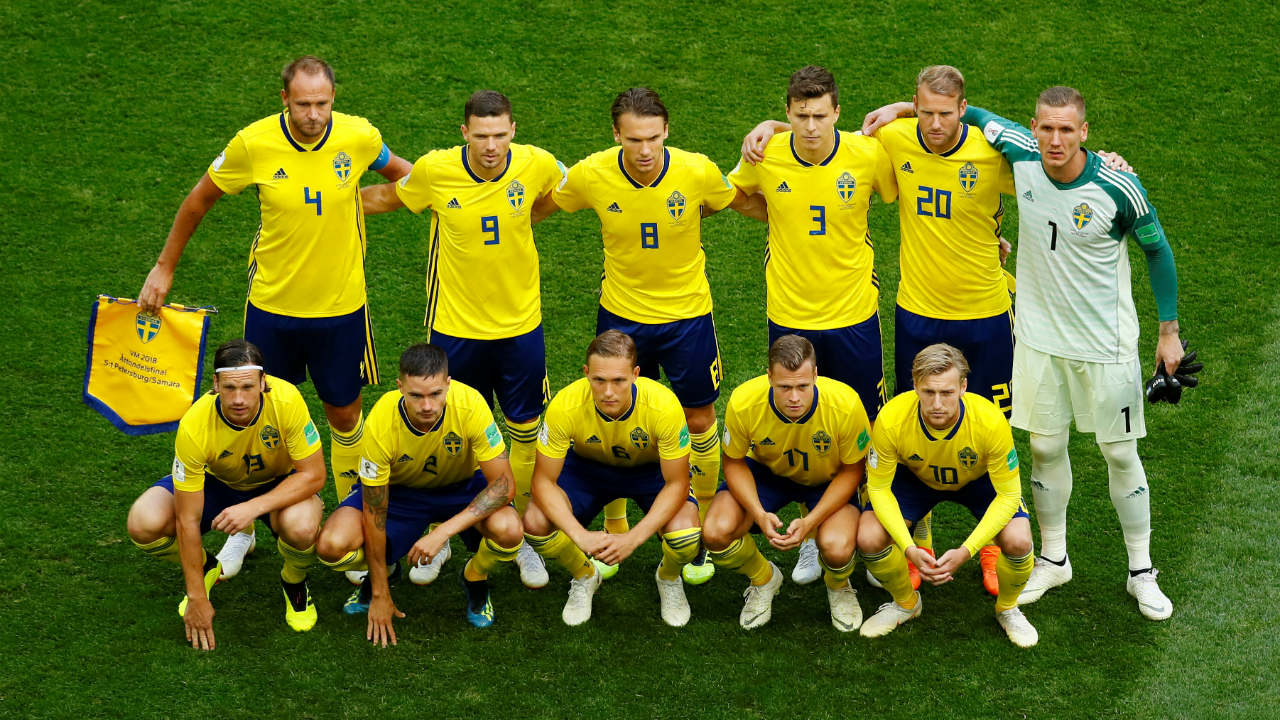 Sweden starting XI. (Image: Reuters)