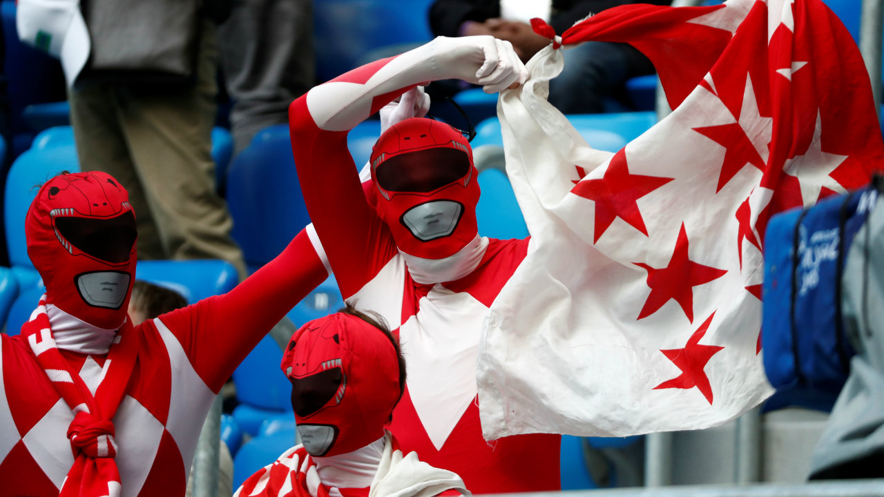 Switzerland fans inside the stadium. (Image: Reuters)