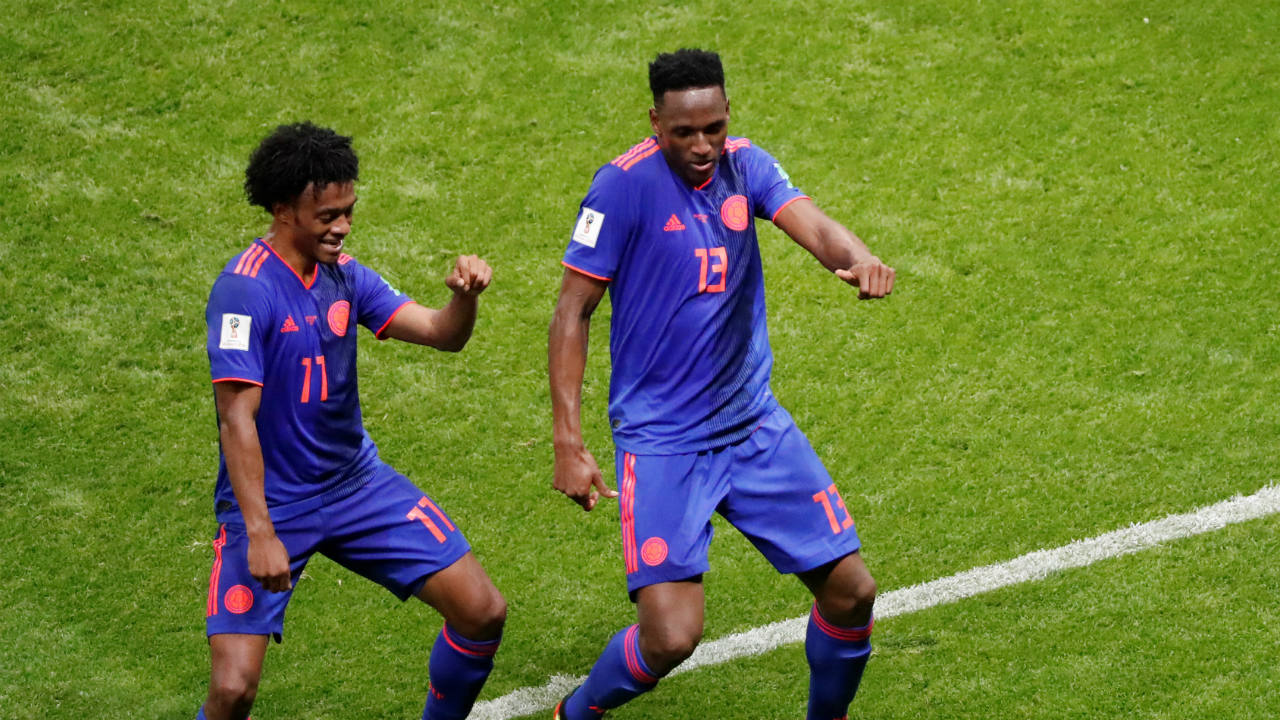 Yerry Mina and the dancing Colombians | The Colombians brought their dance celebrations to the 2014 FIFA World Cup, and they didn't disappoint in the 2018 edition of the tournament either. Yerry Mina's winner against Senegal, and the injury-time equaliser against England led to some wild dance celebrations. (Image: Reuters)