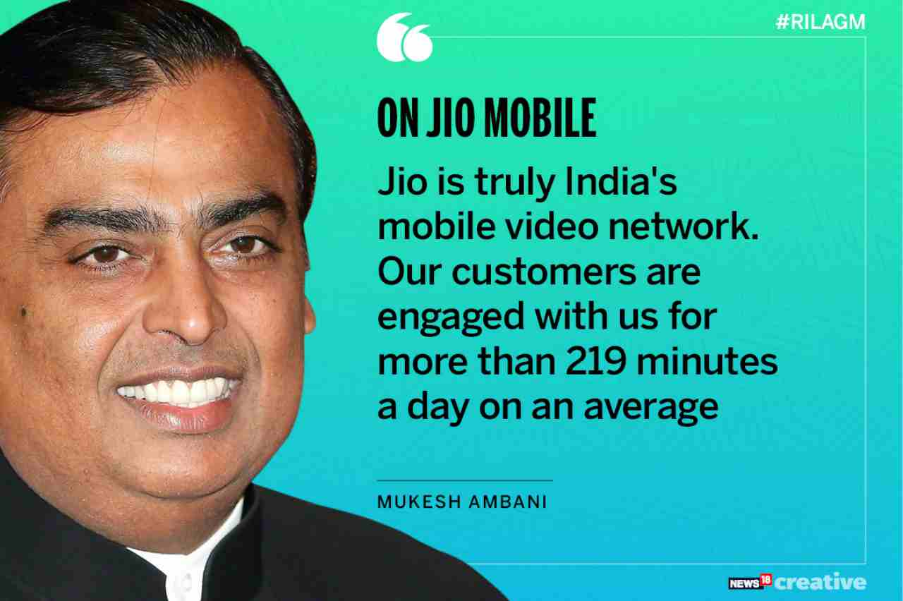 On Jio | Jio is truly India's mobile network. Our customers are engaged with us for more than 219 minutes a day on an average.