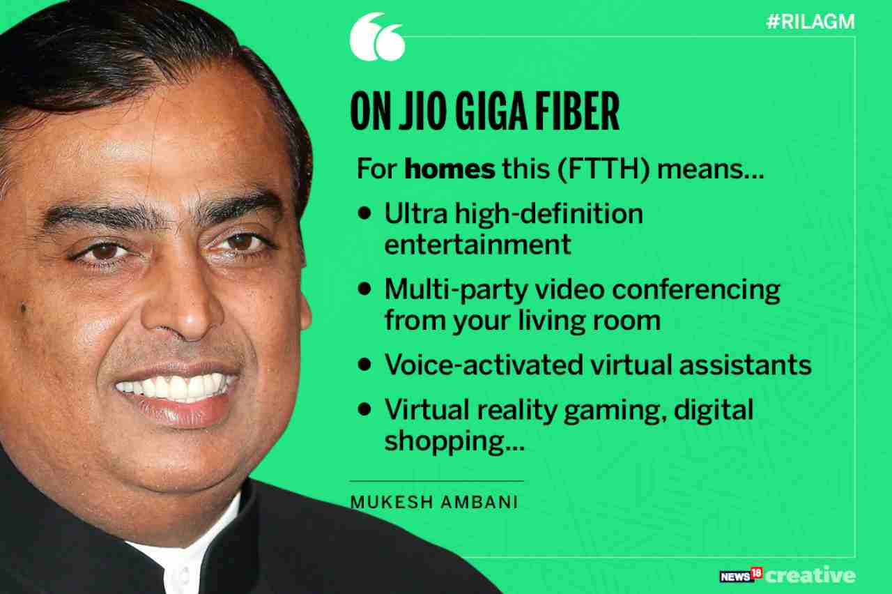 On Jio GigaFiber | For homes, this means—ultra high definition entertainment, multi-party video conferencing from your living room, voice-activated virtual assistants, virtual reality gaming, digital shopping.
