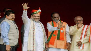 Amit Shah holds polls strategy meet with Telangana unit leaders