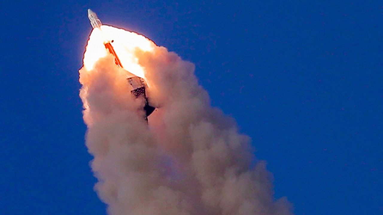 Indian Space Research Organisation (ISRO) successfully launched its Crew Escape System Technology Demonstrator from Satish Dhawan Space Centre in Sriharikota. (Image: PTI)