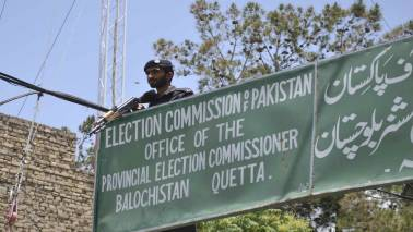 Pakistan's opposition parties stage protest before ECP against rigging