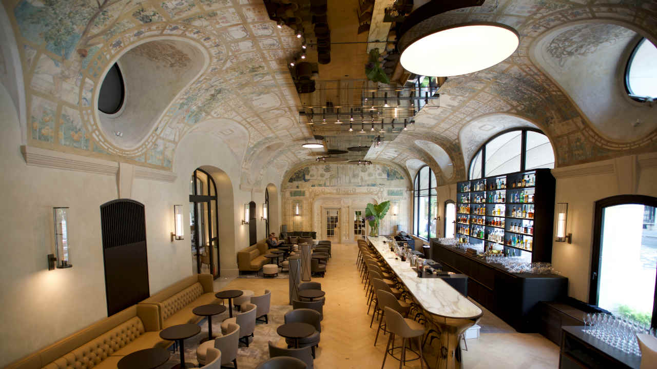 A view shows the bar Josephine in the more than century-old Hotel Lutetia in Paris, France, before its reopening after a four-year 200 million euros (USD 231.16 million) renovation. (REUTERS)