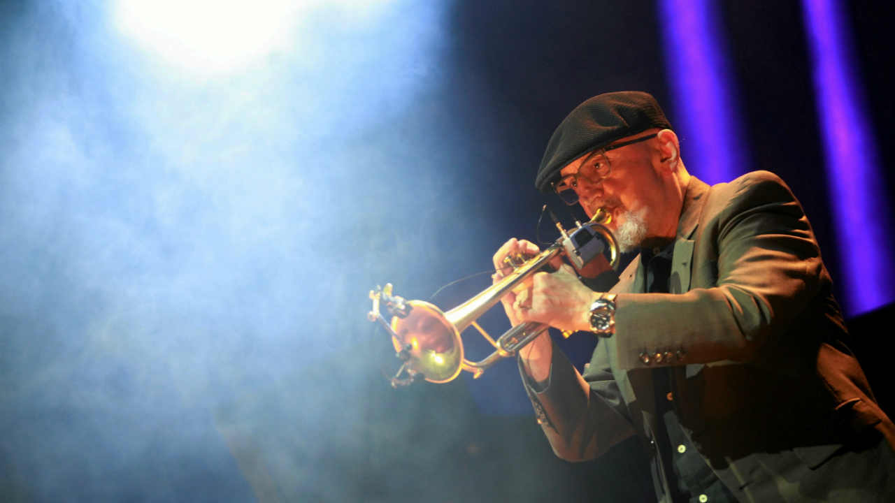 Polish jazz trumpeter Tomasz Stanko performs during the concert commemorating the 70th anniversary of Warsaw Uprising in Warsaw, Poland (REUTERS)