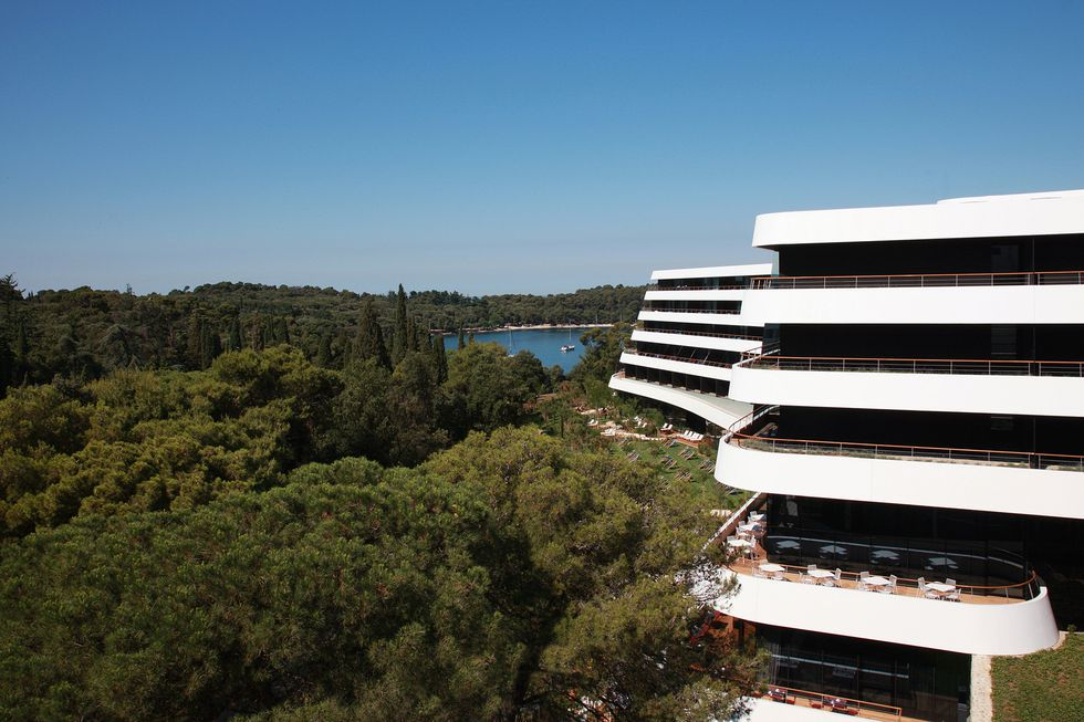 Hotel Lone, Rovinj, Croatia: It has hosted notable musicians, Donald Trump's family and the film Diana was shot here. It is just a few minutes away from the beach, and has a unique spa area, green sunbathing areas and an outdoor pool too. It is a modern 5-star hotel that resembles a ship.