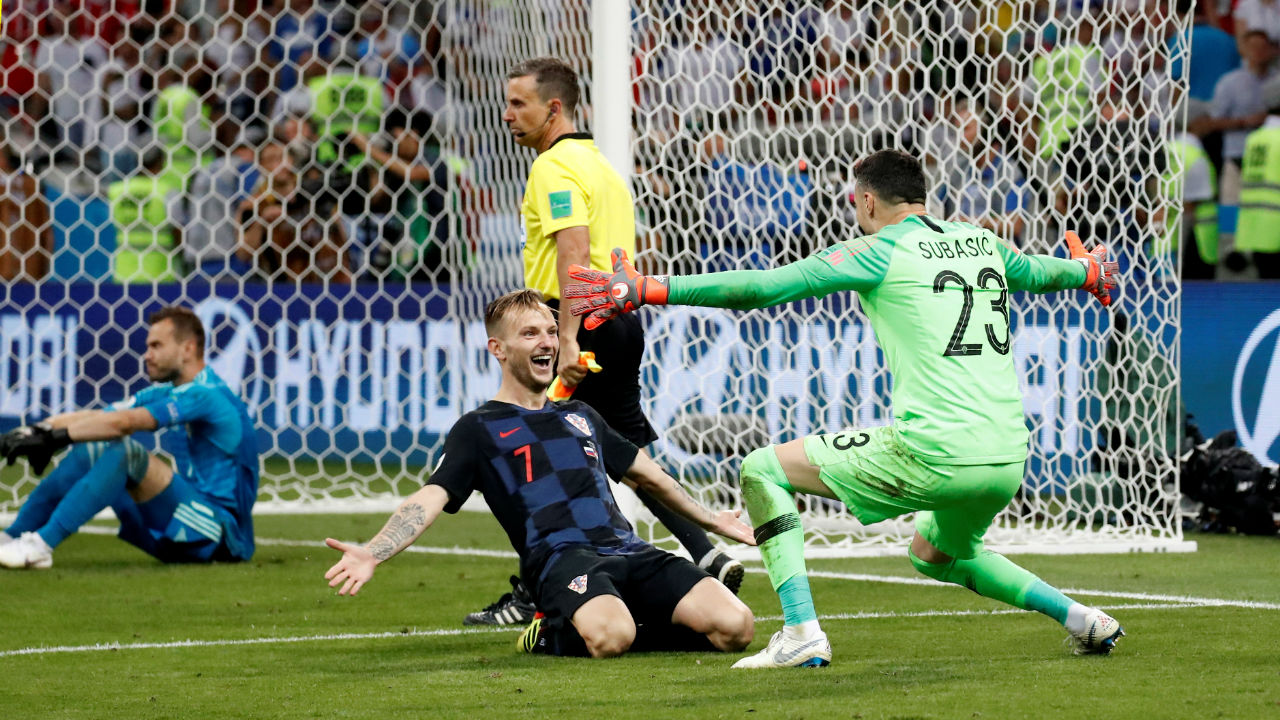 Croatia into the semi-finals | Croatia's Ivan Rakitic kept his cool and scored the decisive penalty to take his team into the semi-finals where they will face England. (Image – Reuters)