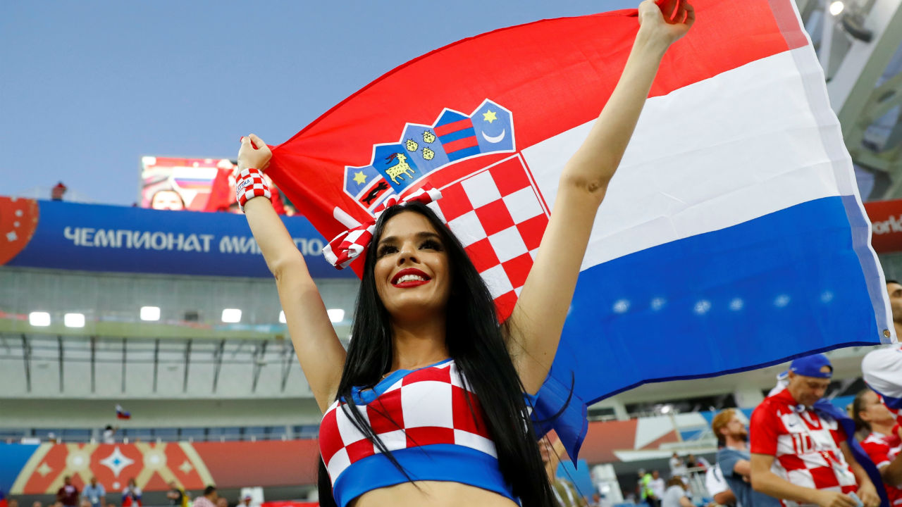 Croatia fan before the match. (Image – Reuters)
