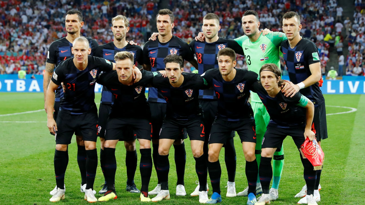 Croatia starting XI | Zlatko Dalic made one change to the starting line-up with Andrej Kramaric coming in for Marcelo Brozovic in midfield. (Image – Reuters)