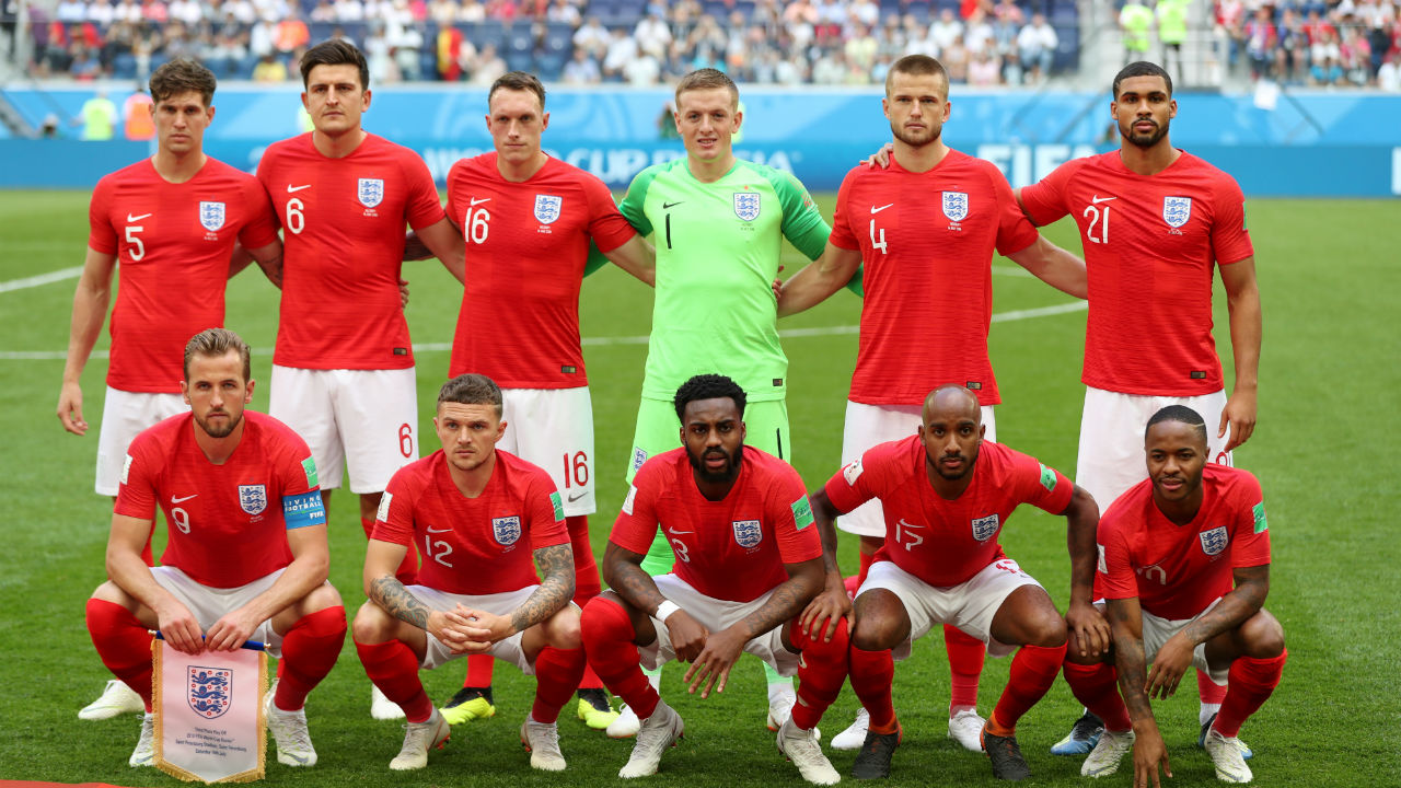 England starting XI | Gareth Southgate made five changes to the side that started the semi-finals against Croatia. Henderson, Lingard, Young, Walker and Alli were left on the bench while Jones, Rose, Dier, Delph and Loftus-Cheek came in to replace them in the starting lineup. (Image – Reuters)
