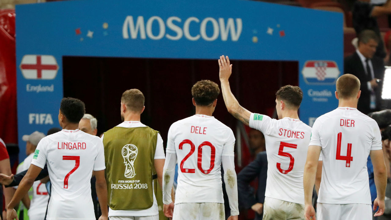 England players walk down the tunnel after the match. England will now face Belgium in the third place play-off on Saturday. (Image - Reuters)