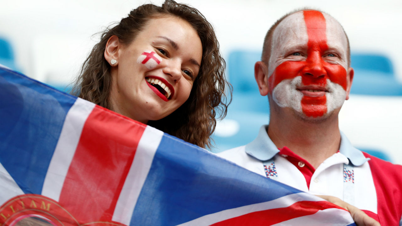 England fans inside the stadium before the match. (Image – Reuters)