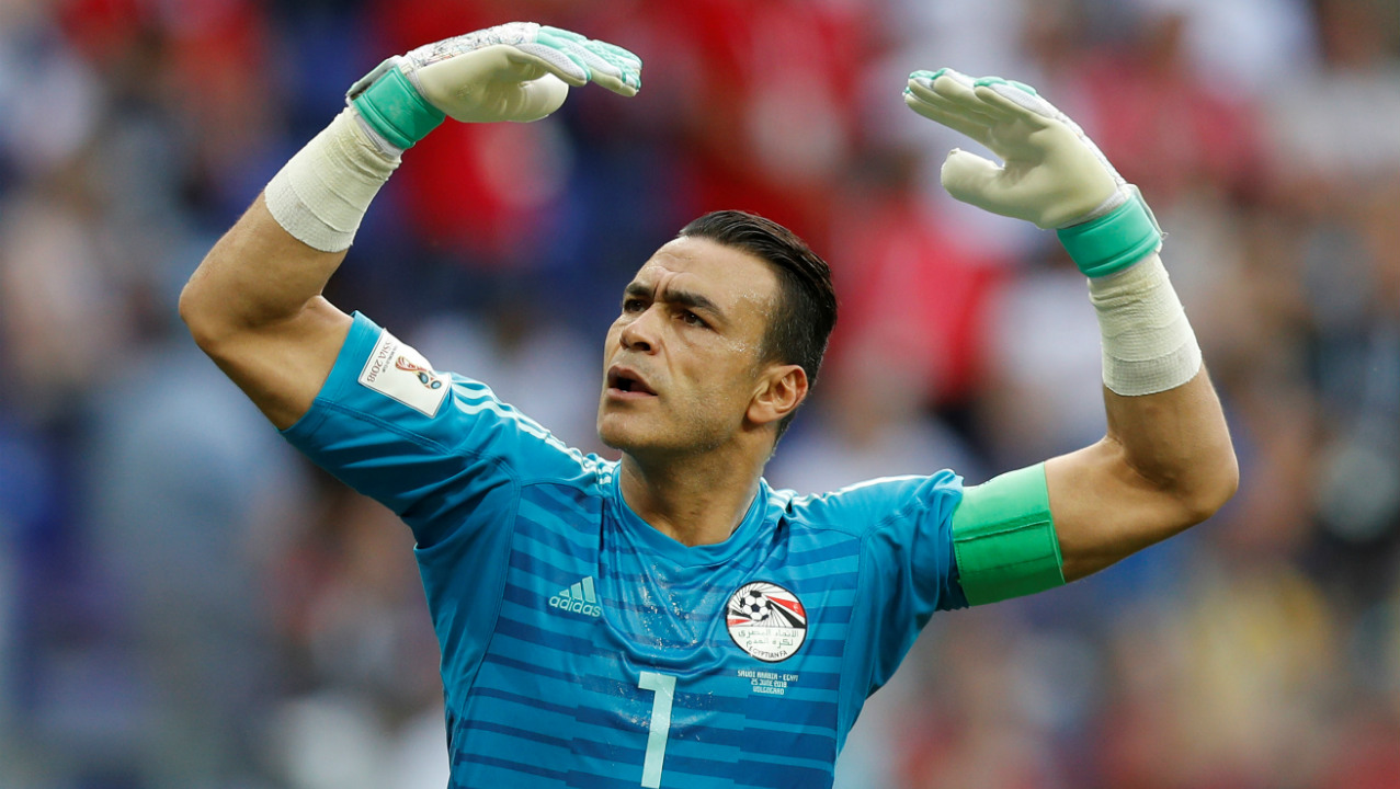 Oldest player to start in a World Cup game | Goalkeeper Essam El Hadary became the oldest player ever start in a World Cup game when he lined up in Egypt's last match against Saudi Arabia aged 45.