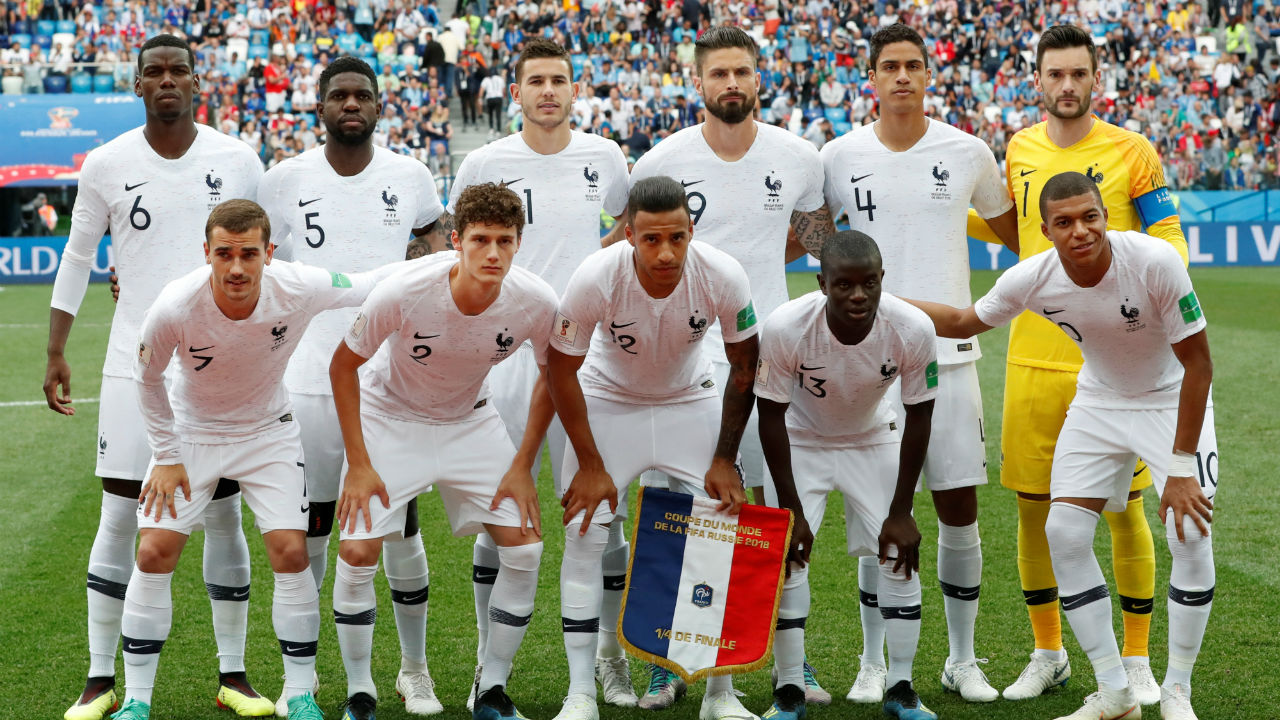France starting XI. Blaise Matuidi missed the game due to suspension and was replaced by Corentin Tolisso in the starting line-up. (Image - Reuters)