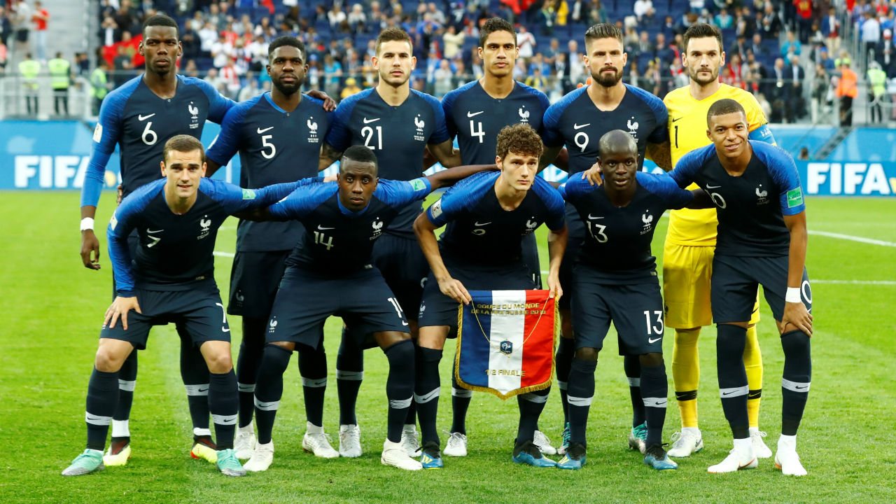 France starting XI | France made one change to their quarter-final lineup, with Blaise Matuidi returning from suspension to replace Corentin Tolisso.