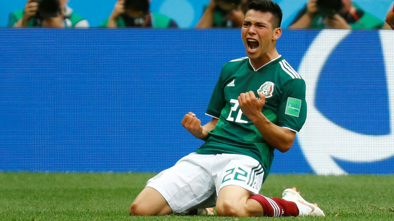Hirving Lozano | One of Mexico's key strengths has been their ability to quickly transition from defence to attack and one of the key men who makes this happen is 22-year-old attacking midfielder Hirving Lozano. Lozano was brilliant in the match against Germany exposing their backline with his blistering pace and also scoring the only goal of the game. Brazil will have to be wary of the wily attacker especially as they are prone to committing men forward for attacks. (Image - Reuters)