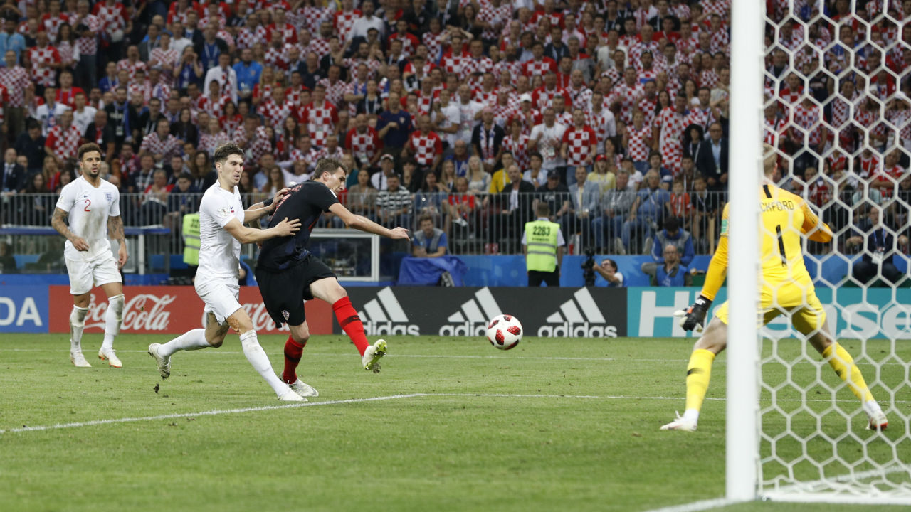 Goal! England 1 – 2 Croatia | Ivan Perisic won a header on the edge of the area that let Mario Mandzukic get in front of England's defence and fire a low left-foot shot past Jordan Pickford in the second half of extra-time. (Image - Reuters)