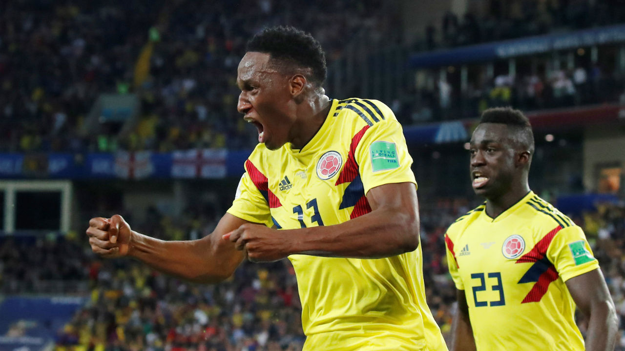 Yerry Mina (Colombia) | Colombia scored six goals in the 2018 World Cup, three of those came from the head of their towering defender Yerry Mina. It was Mina's header against Senegal in the last-16 that secured Colombia's passage to the quarter-finals where he repeated the feat against England with an equaliser deep into stoppage time. Besides his prowess from set pieces, Mina's towering presence at the heart of the Colombian defence added some resilience to their backline through the tournament. (Image – Reuters)