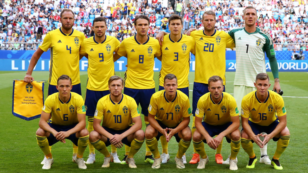 Sweden starting XI | Janne Andersson made two changes to his starting line-up with Emil Krafth replacing the suspended Mikael Lustig in defence and Sebastian Larsson returning from suspension in place of Gustav Svensson. (Image – Reuters)