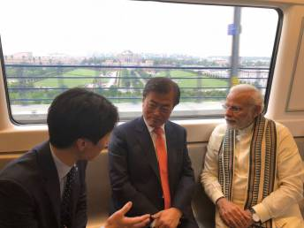 It's a blue line Metro ride for PM, South Korean prez to Samsung's new facility in Noida