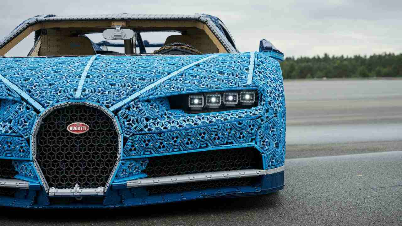 In pictures: A driveable Buggati Chiron entirely built of Lego