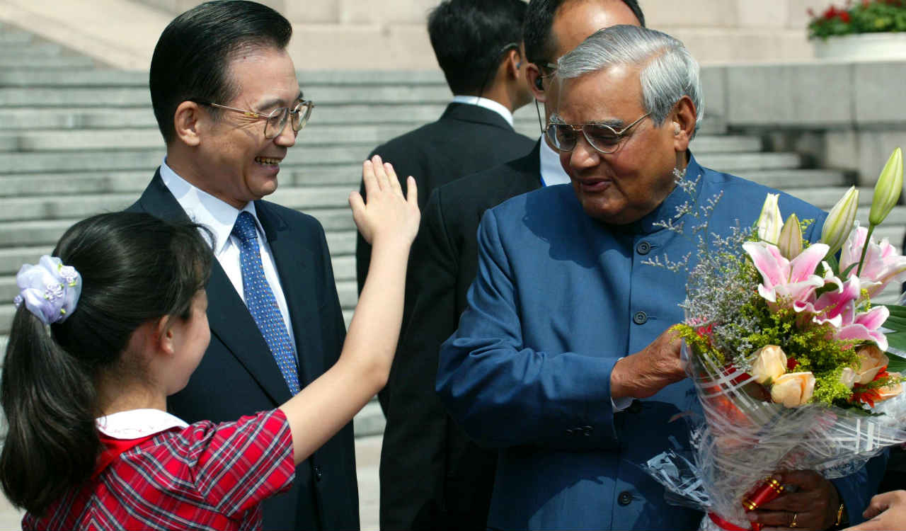 "October 2002 | ""Our nuclear weapons are meant purely as a deterrent against nuclear adventure by an adversary. We do not believe that a nuclear war should be fought and we do not believe that a nuclear war can be won."" Vajpayee had told this to a newspaper on signing the Lahore declaration to reduce the risk of unauthorized use of nuclear weapons as an instrument of war. (Image: Reuters)"
