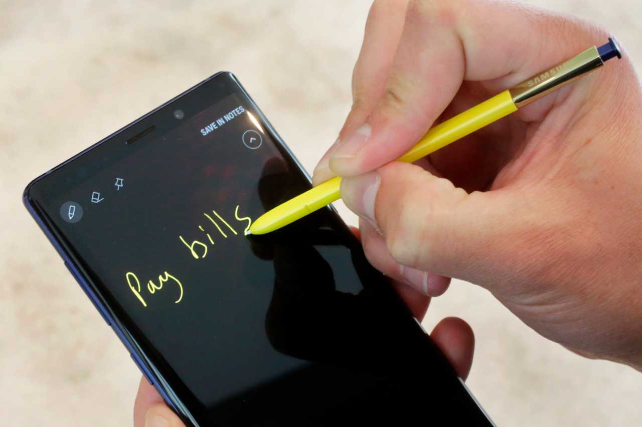 Samsung Galaxy Note 9 Stylus | Here's a biggie. The stylus on Note 9 will have Bluetooth. This will allow users to operate from a distance of 30 feet. Presentations at office meetings and similar events using a smartphone just got easier. (Image: AP)