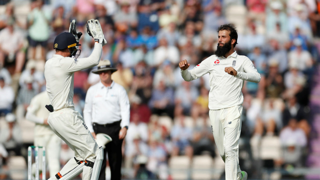 Returnee Moeen Ali then got into the act as he took four quick wickets. He accounted for the wickets of Rishabh Pant, Hardik Pandya , Ravichandran Ashwin and Mohammed Shami. Ashwin and Shami were dismissed in two consecutive deliveries as Ali found himself on hat-trick. Chasing England's first innings total of 246, India's score read 195/8 (Image - Reuters )