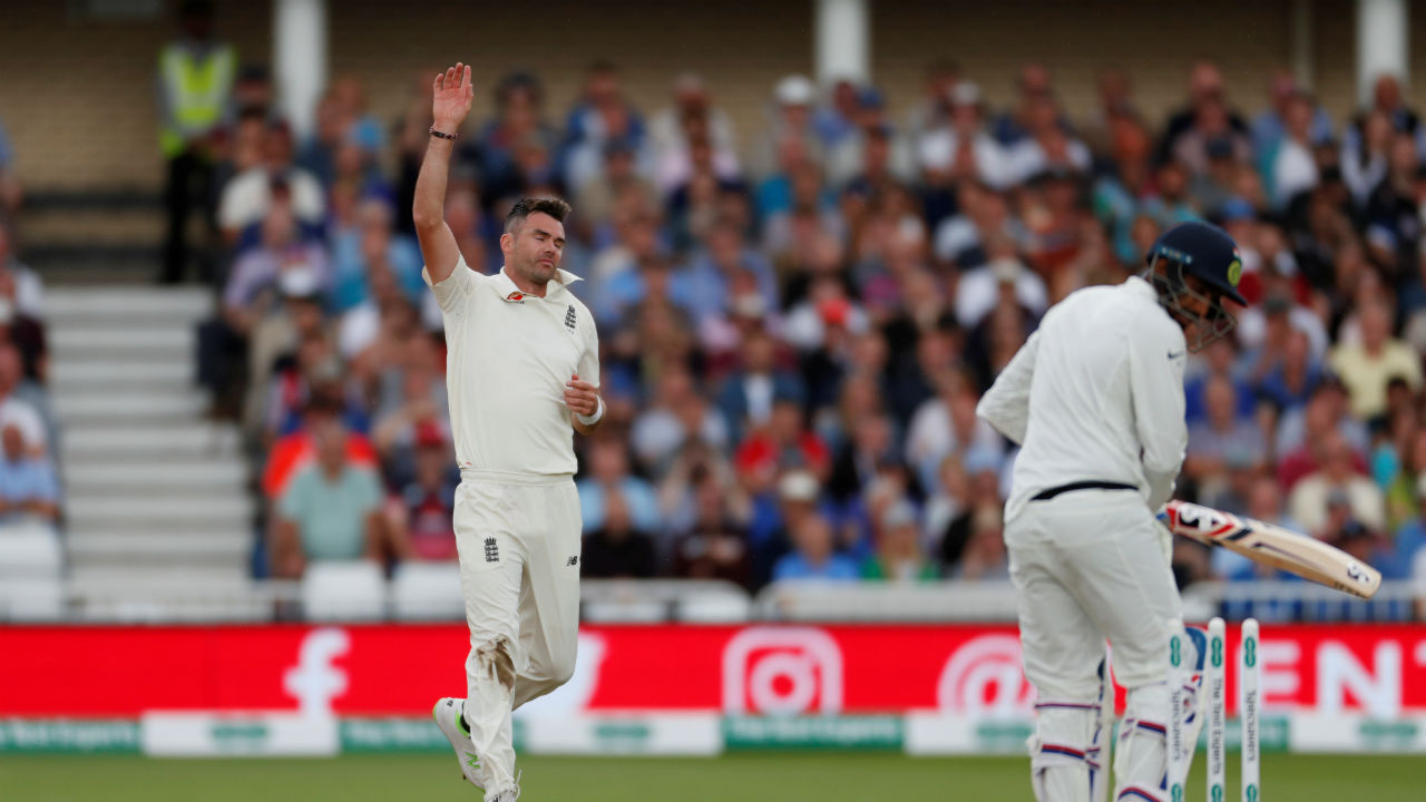 Wrecking havoc at the other end was James Anderson. Anderson first took the wicket of Mohammed Shami, getting him caught by Broad of a short ball . Then on the very next ball he clean bowled Jasprit Bumrah to polish off India's innings at the score of 329. India was reduced from its overnight score of 307/6 to 329/ 10. (Image - Reuters)