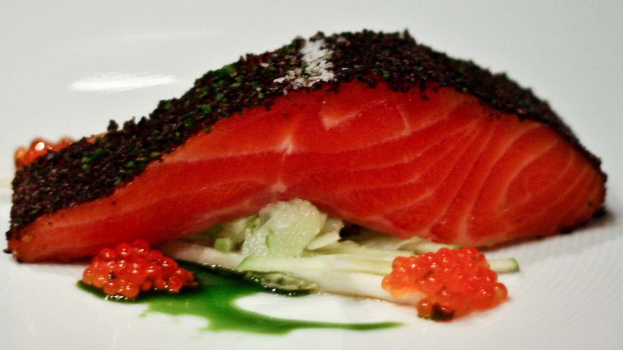 Others | Most expensive city: Victoria — Rs 3,472 for a three-course-meal. (Pictured) Confit of Tasmanian ocean trout served at a restaurant in Australia. (Image: Wikimedia Commons)