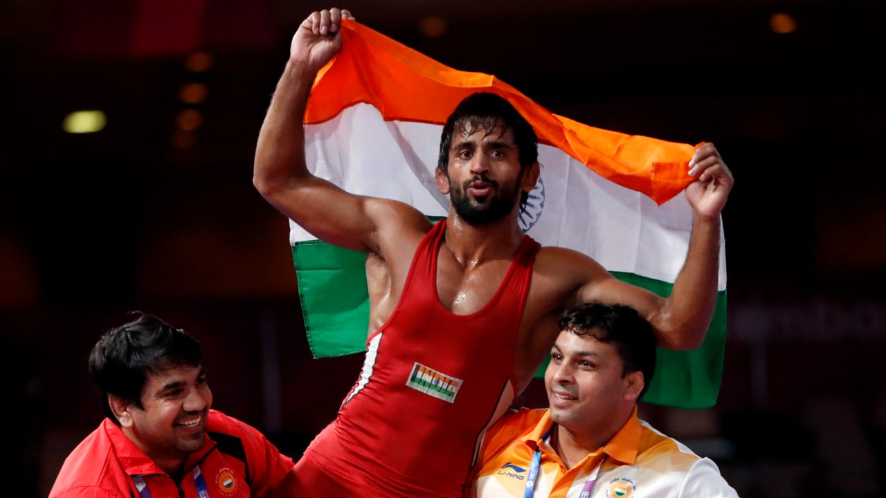 Bajrang Punia | Men's 65 kg freestyle | Gold (Image: Reuters)