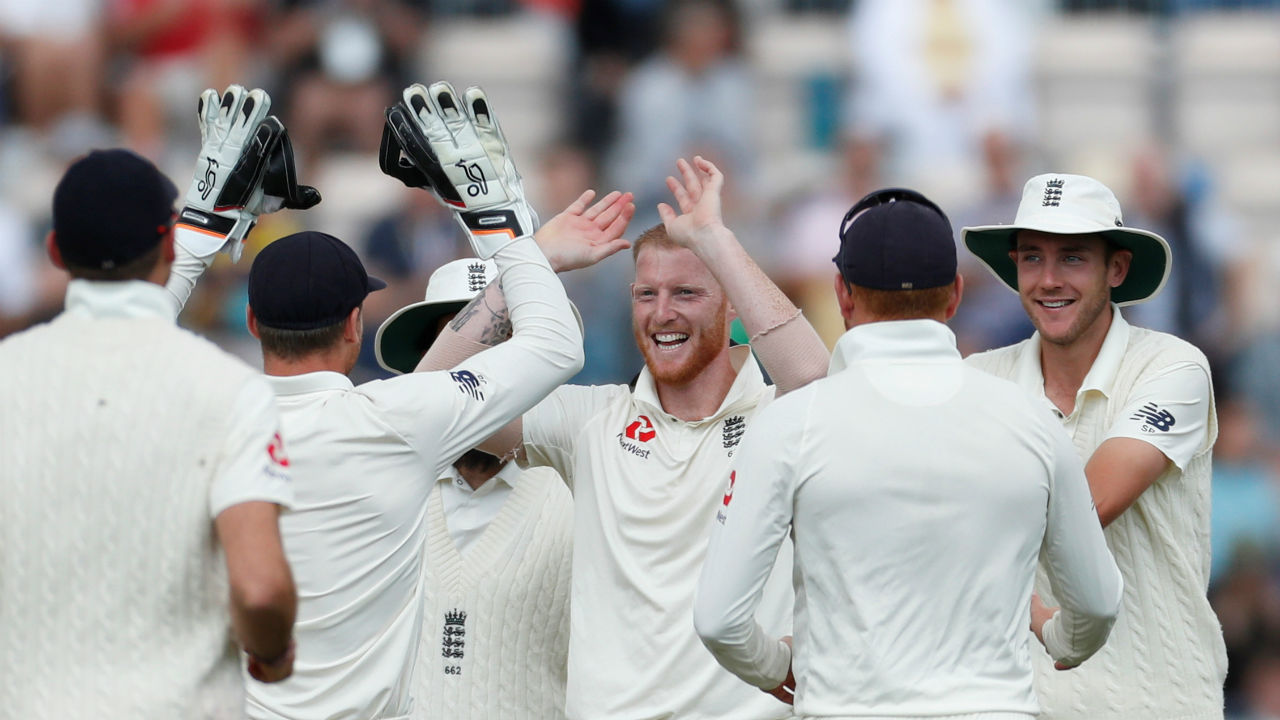 England all-rounder Ben Stokes then took the wicket of Ajinkya Rahane as he trapped the Indian batsman in front of the wickets. At this stage India's score read 161/4. (Image - Reuters)
