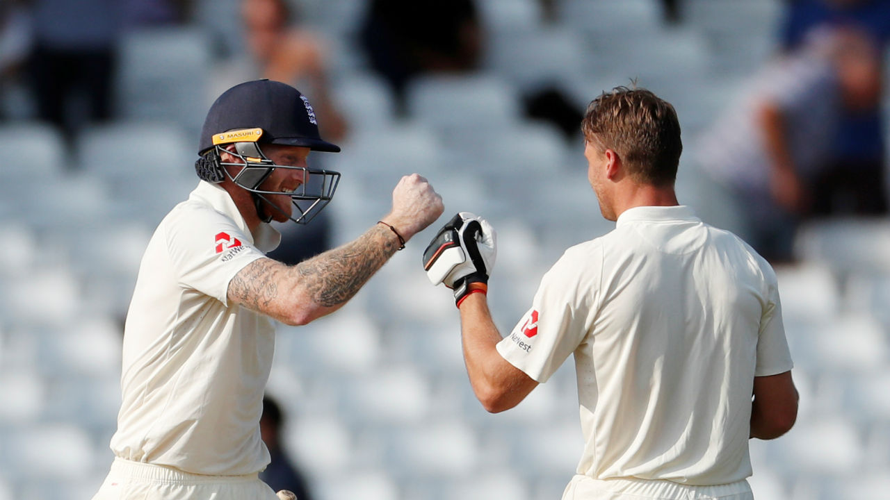 Ben Stokes gave good company to Jos Buttler, and in the process, brought up his half-century as well. Thanks to the 169-run partnership between Stokes and Buttler, England's score improved to 231/4 from 62/4.   (Image- Reuters)