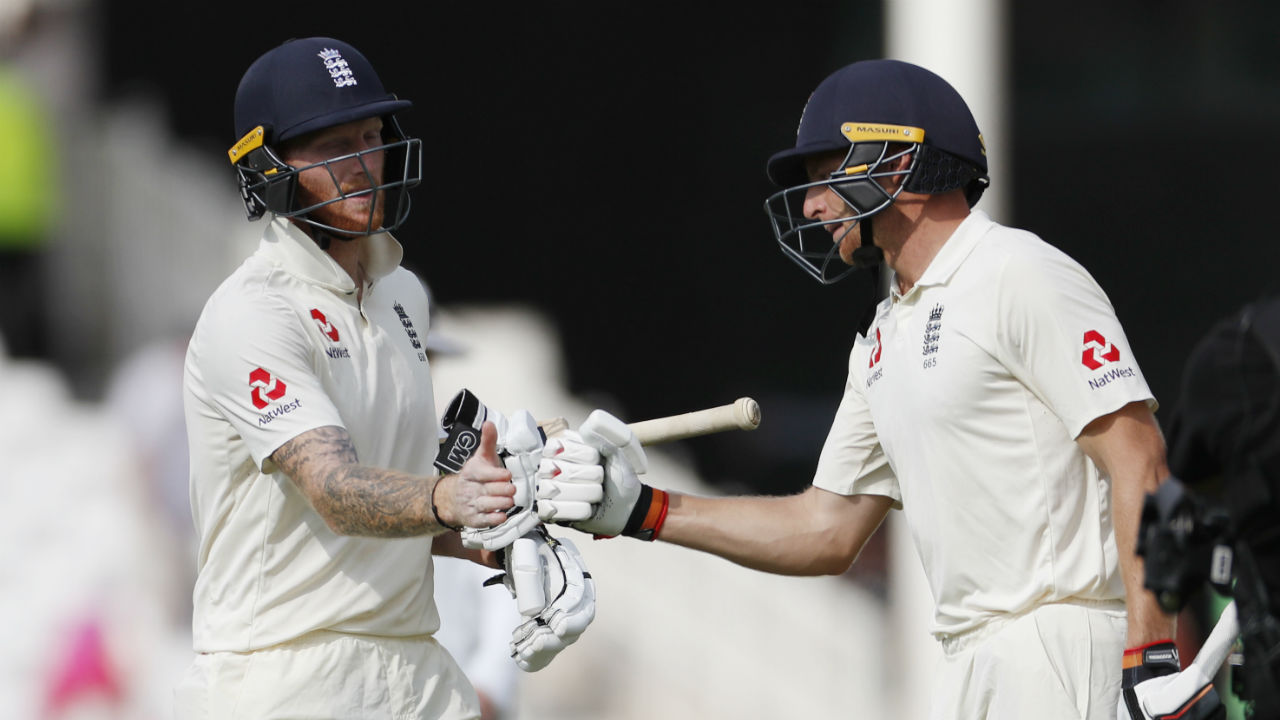 Jos Buttler and Ben Stokes came together when Pope fell. The pair displayed great resolve as they batted through the entire second session. During the partnership, Buttler completed his Test Fifty and the pair added 100 runs together. When Tea was called, England's score was 173/4. (Image - Reuters )