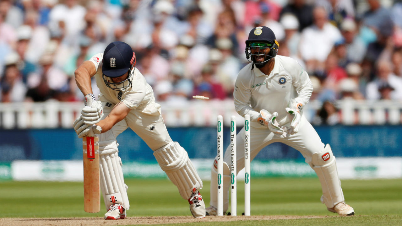 Ravichandran Ashwin cleaned Alastair cook with a classical off spinning ball. (Picture:Reuters)