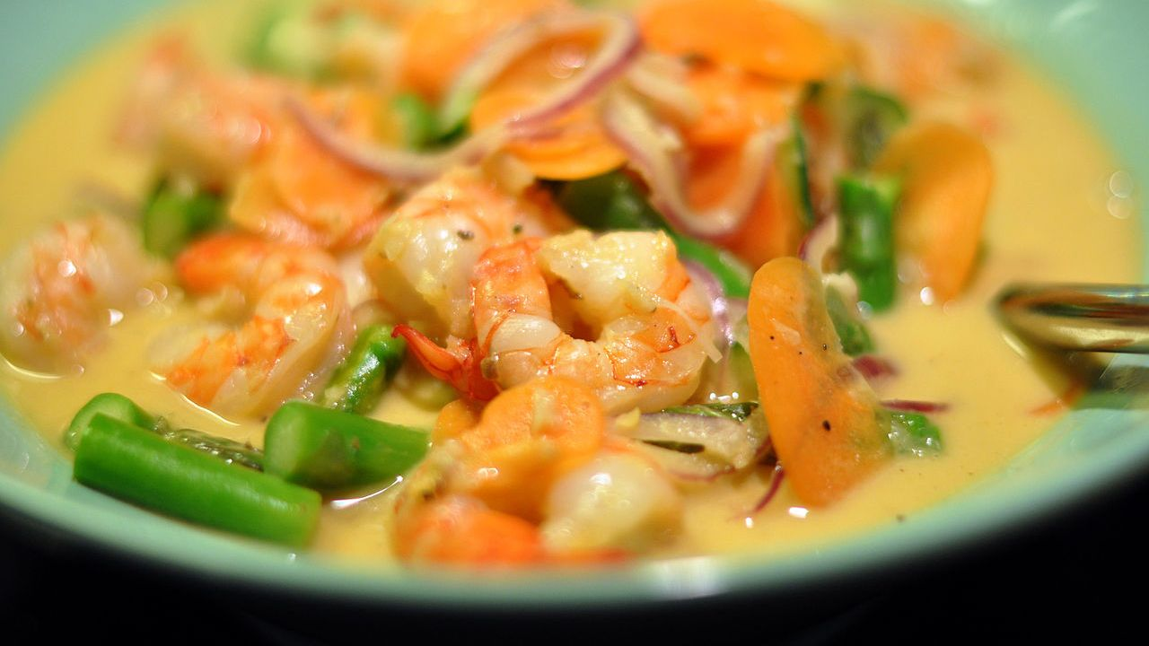 Australia and Asia   Least expensive city: Dhaka — Rs 595. (Pictured) A plate of Chingri Malai Prawn Curry. (Image: Wikimedia Commons)
