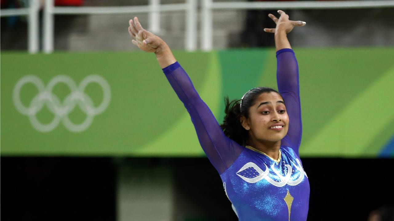 Dipa Karmakar | Leading Indian gymnasts, Karmakar created history by becoming the first Indian gymnast to win a gold medal in the vault event of FIG Artistic Gymnastics World Challenge Cup at Mersin, Turkey. She is first Indian female gymnast ever to compete in the Olympics. (Image: Reuters)