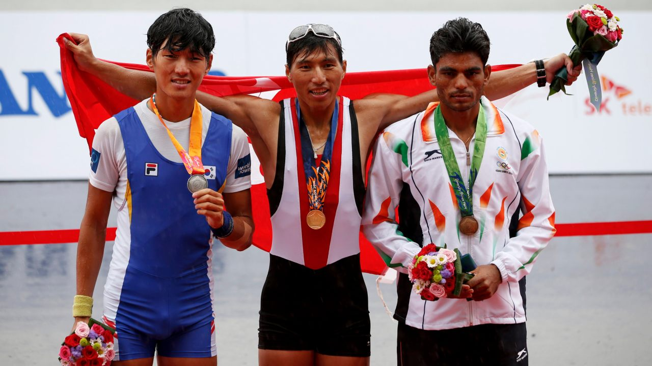 Dushyant Chauhan (Right) | Men's Lightweight Single Sculls | Bronze (Image: Reuters)