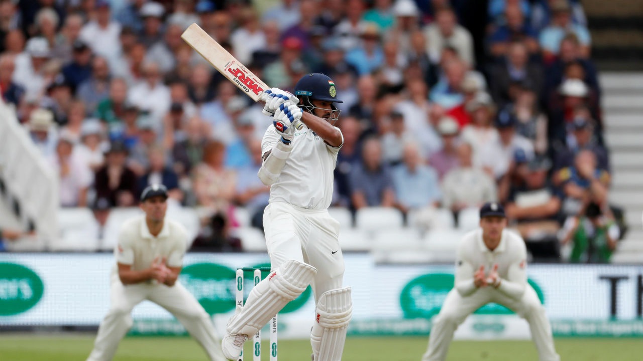 Indian opener Shikhar Dhawan and K L Rahul got India to a decent start in the morning session. The duo constructed a 65-run partnership which was India's first 50-run opening stand of the series. Dhawan was the first wicket to fall in the day, when he edged a Chris Woakes ball which was caught by Jos Buttler standing at the second slip. Woakes soon removed Rahul too, when he pinned the batsman in front of the wickets. (Image - Reuters)