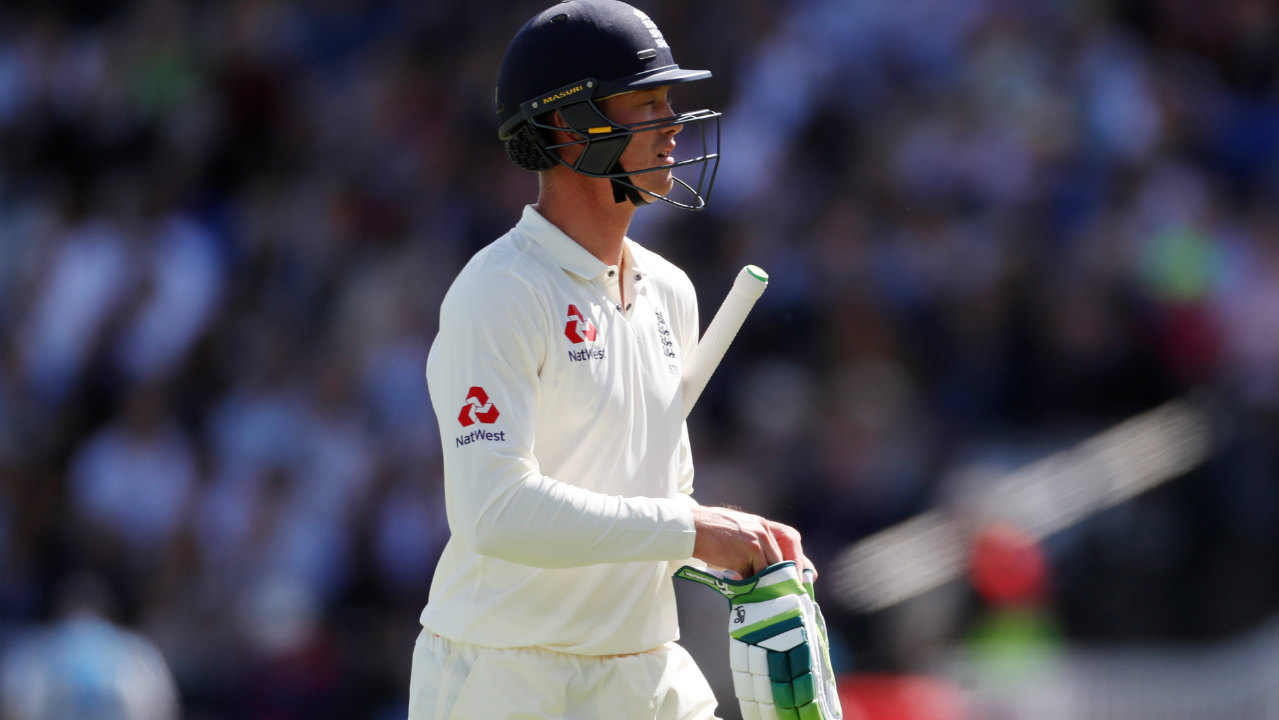 Alastair Cook and Keaton Jennings gave England a stable start adding 28 runs for the first wicket before Shami struck in the eight over of the day. He sent in a fuller length delivery that angled into Jennings catching him plumb on the pads. Jennings went for the review but there was nothing there to save him. (Image – Reuters)