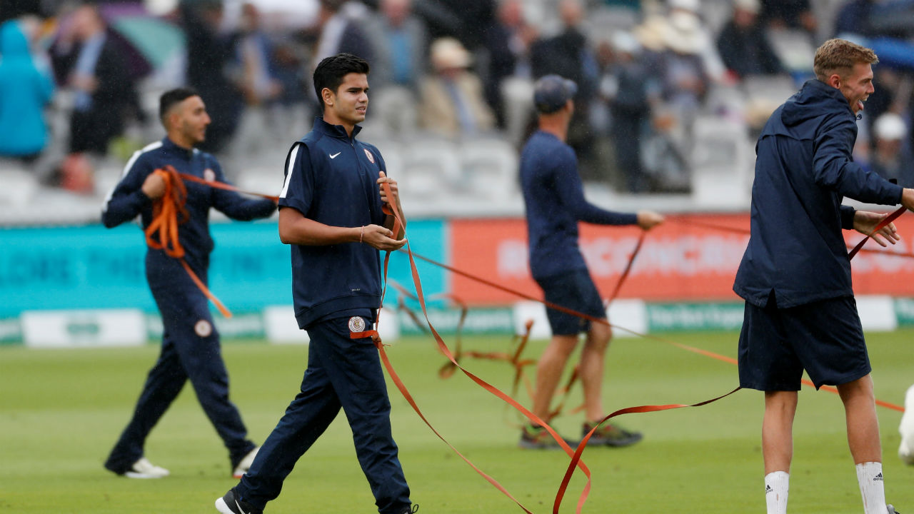 The groundsmen at Lord's had some help from batting legend Sachin Tendulkar's son, Arjun who has been training with the MCC Young Cricketers during his off time. (Image: Reuters)
